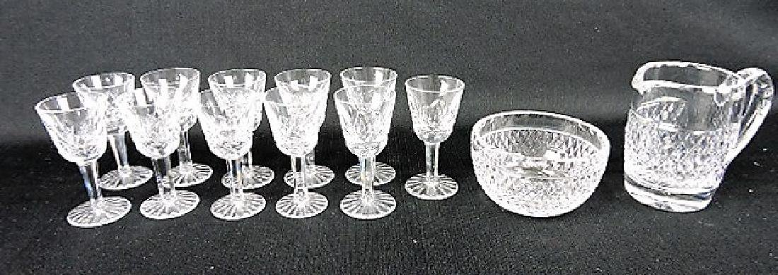 """Waterford crystal set of 11- 3 1/2"""" cordials,"""