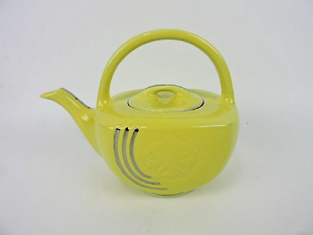 Hall China yellow with platinum trim