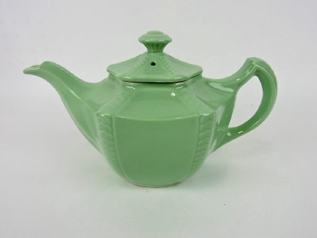 Hall China teapot, Connie, solid green