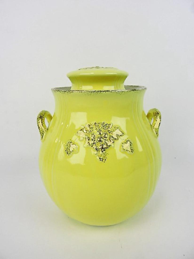 Hall China cookie jar, yellow Thorley
