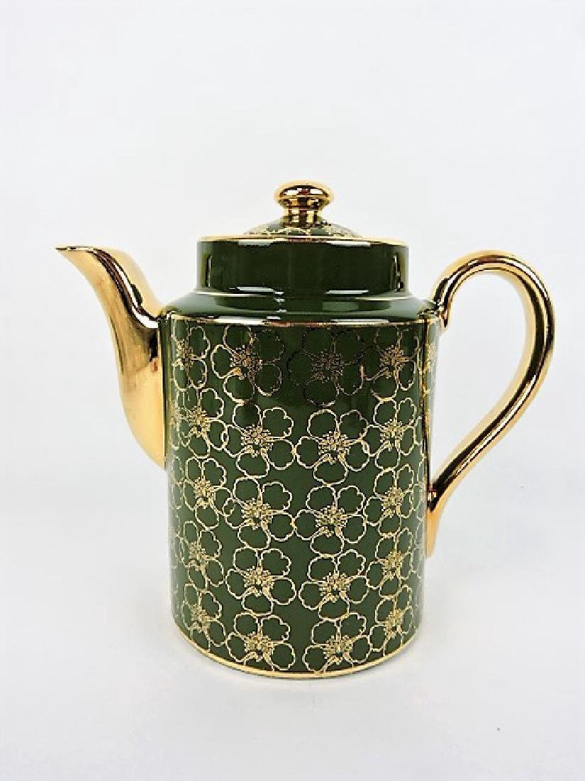Hall China coffee pot, Washington stock green