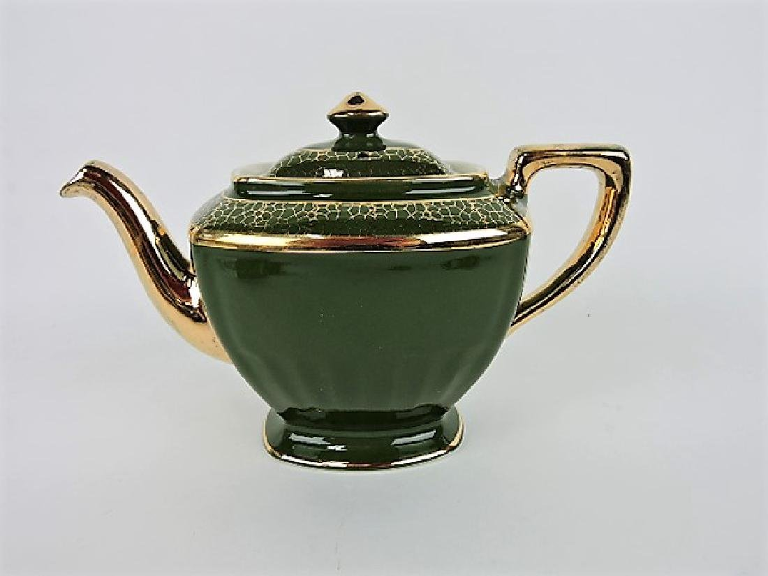 Hall China teapot, Hollywood stock green with