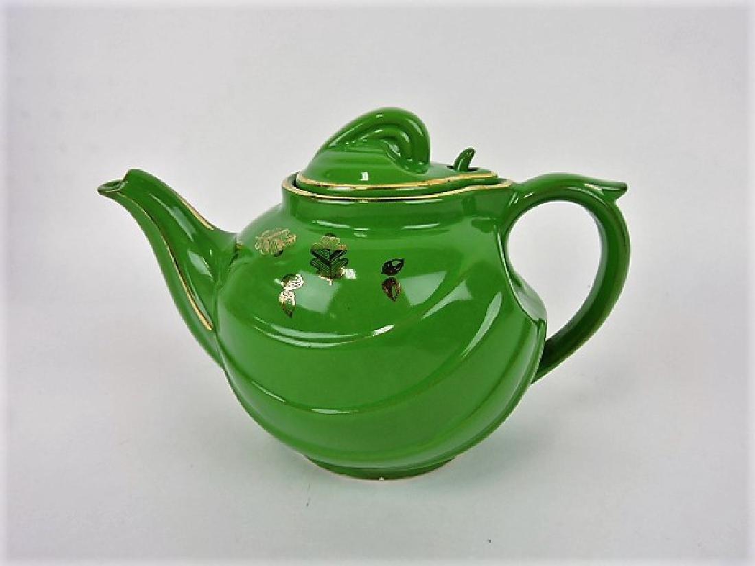 Hall China teapot, Parade, emerald