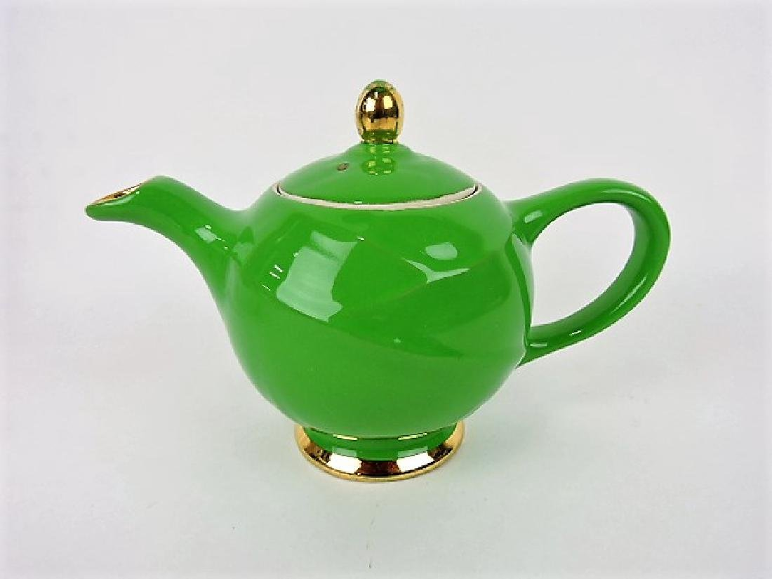 Hall China teapot, Modern, emerald