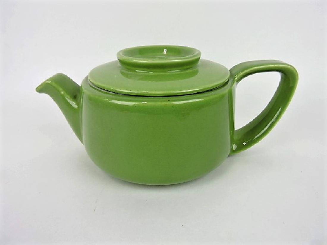 Hall China teapot, Boston lettuce green, 8 cup