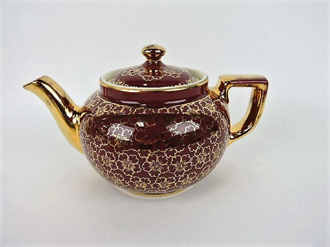 Hall China teapot, Boston French flower with