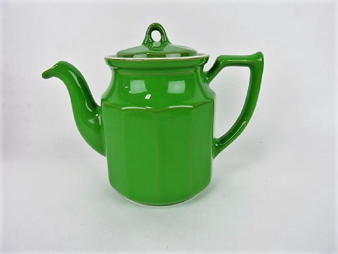 Hall China tri-colator, Hoyt, emerald green