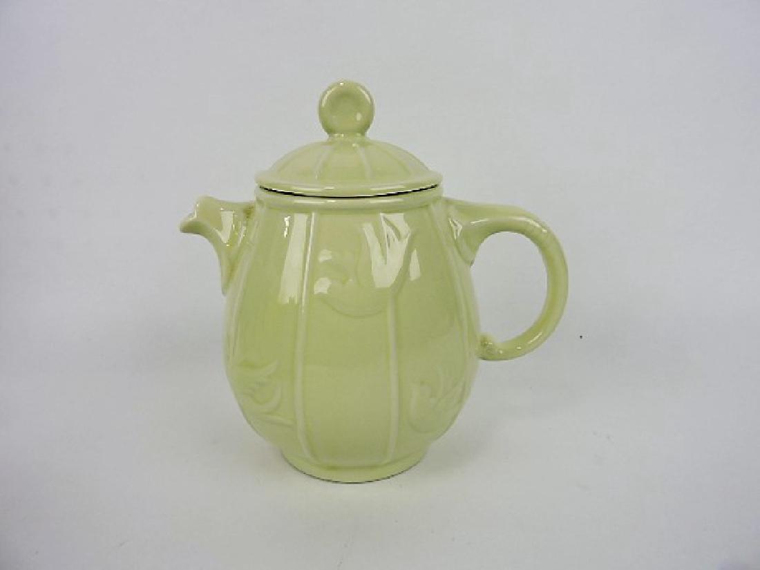 Hall China teapot, birdcage