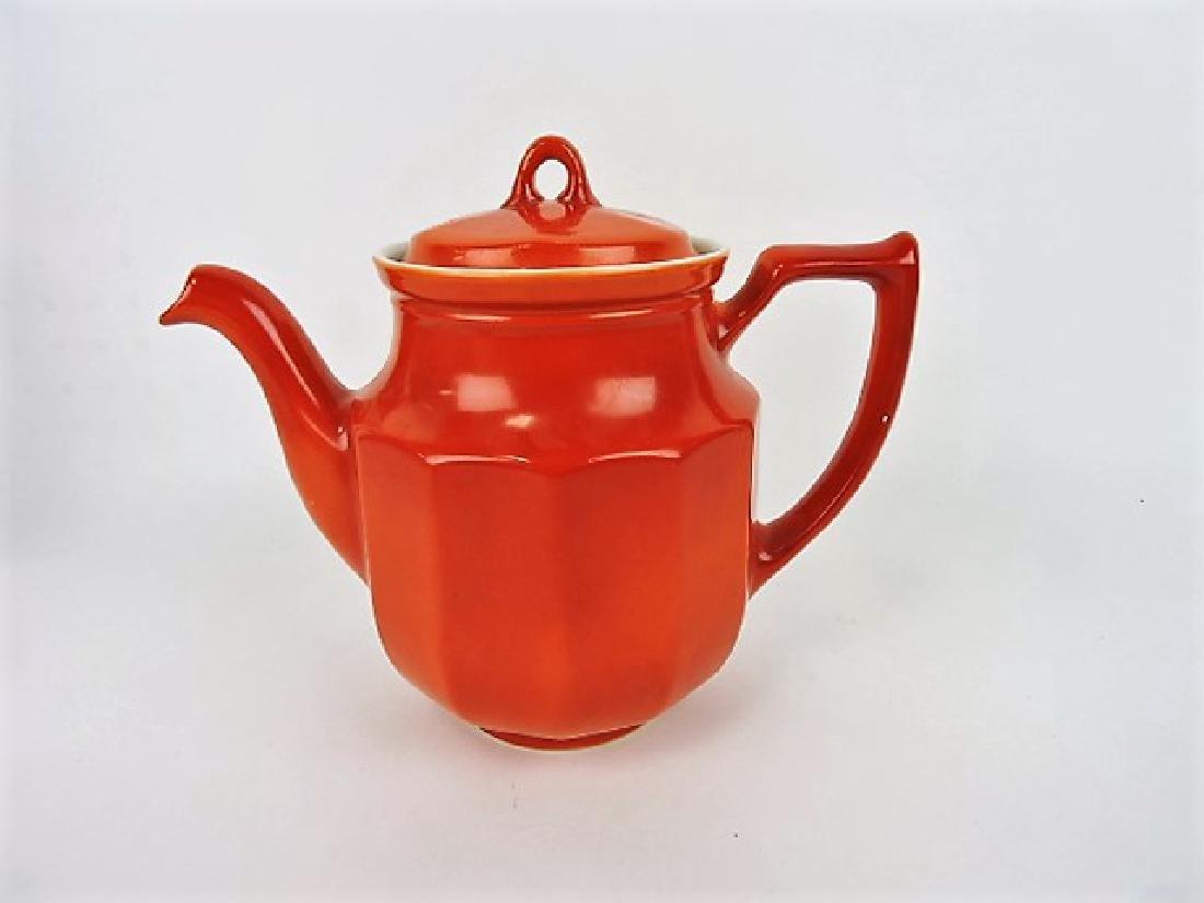 Hall China tri-colator, Hoyt, orange