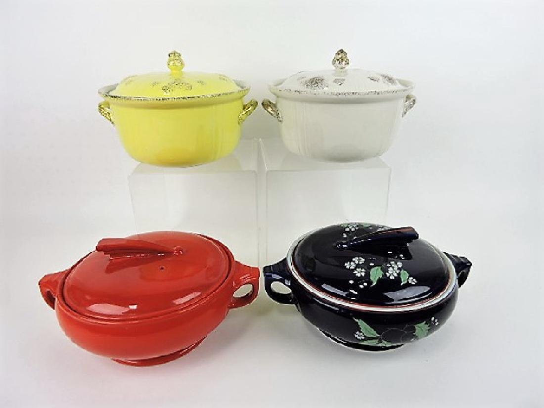 Hall China lot of 4 casseroles