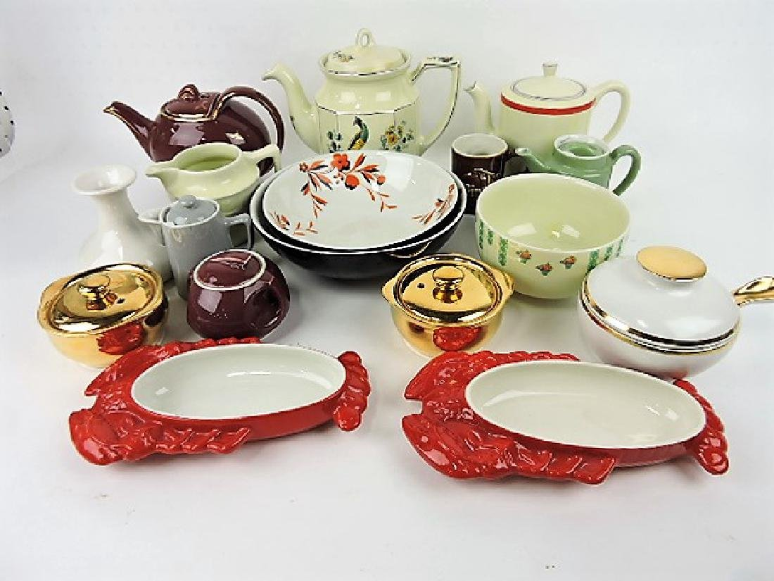 Hall China lot of 17 assorted items