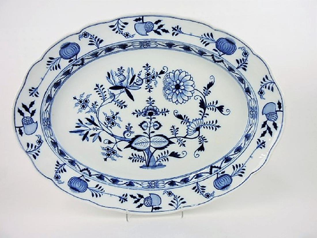 "Meissen Blue Onion monumental platter, 23"" x"