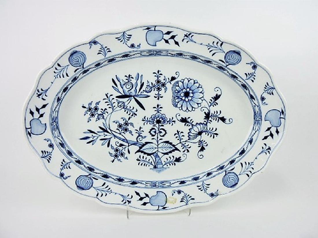 """Meissen Blue Onion platter, 20"""" x 15"""""""