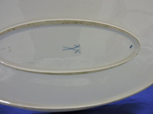 """Meissen Blue Onion platter, 20"""" x 15"""" - 2"""