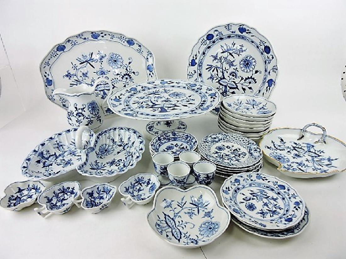 Meissen Blue Onion lot of 35 assorted pcs