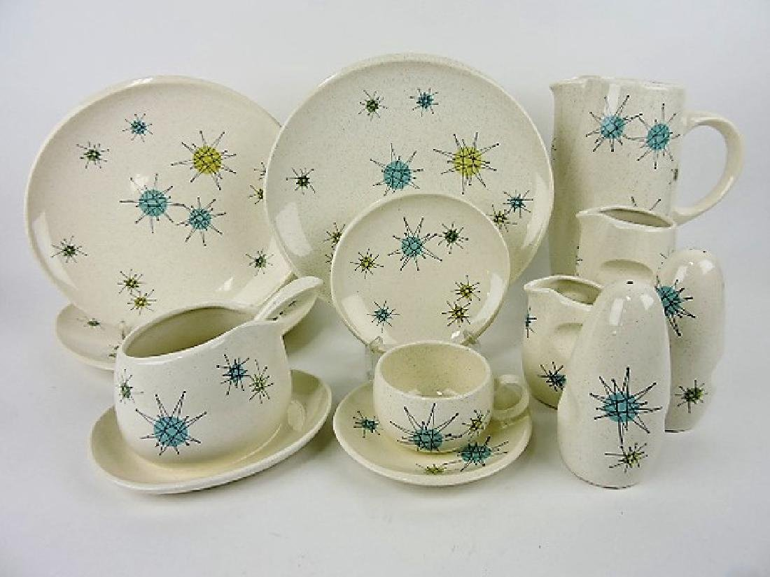 & Franciscan Mid Century Starburst lot of dinnerware