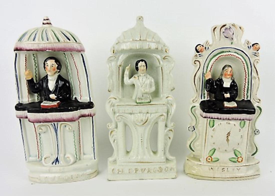 Staffordshire lot of 3 figures: 2 - C.H. Spurgeon