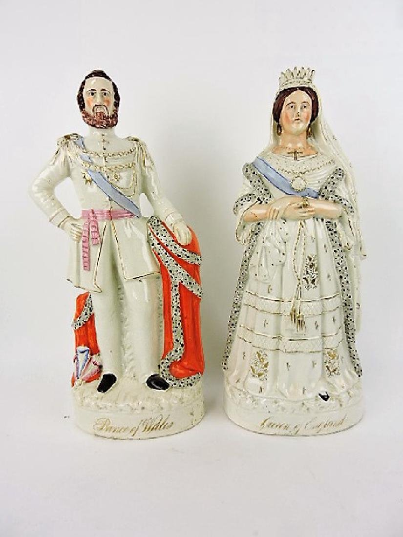 """Staffordshire pair of figures: """"Prince of Wales"""""""