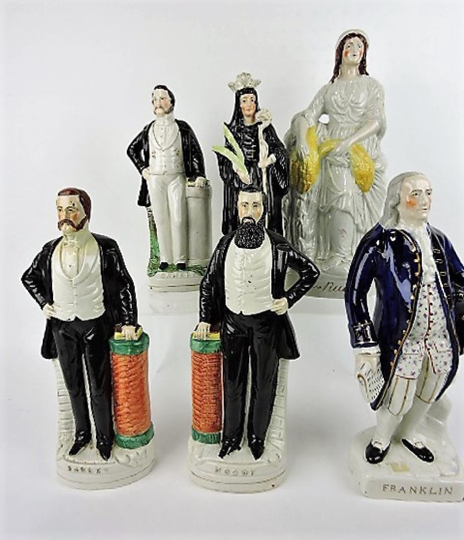 Staffordshire lot of 6 figures: 2 - Sankey, Moody,
