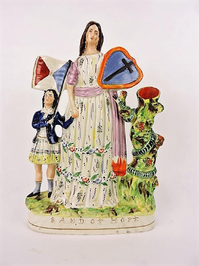 "Staffordshire figure ""Band of Hope"", 14"""