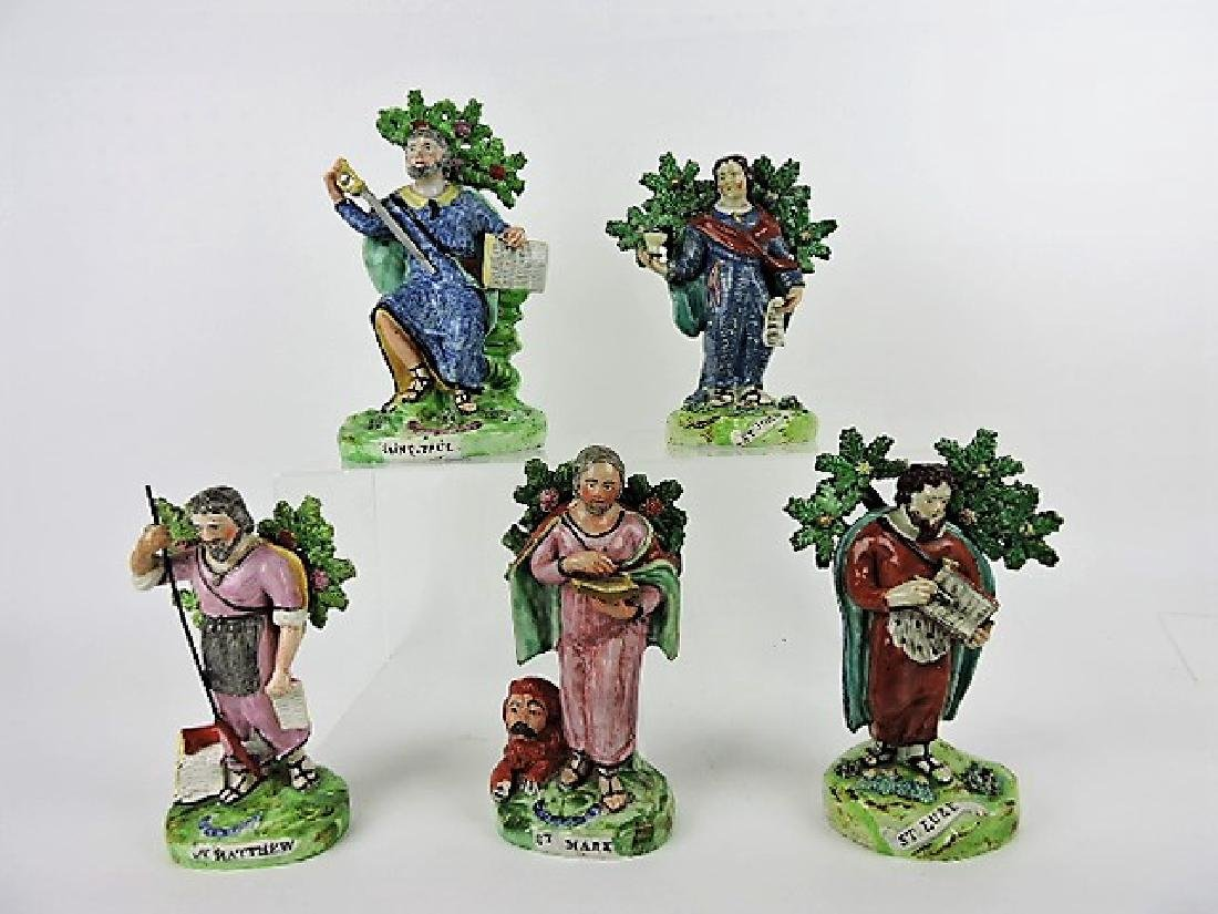 Staffordshire Pearlware lot of 5 figures: St. Paul