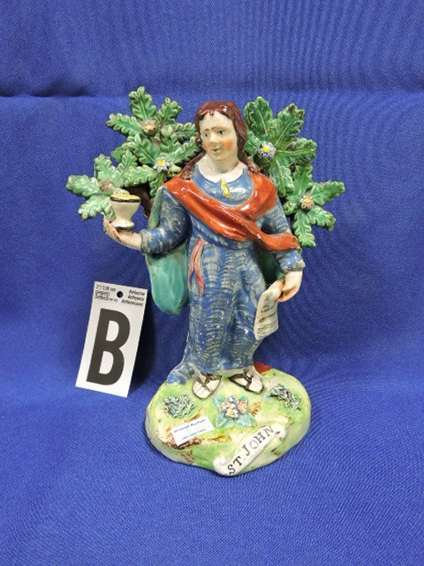 Staffordshire Pearlware lot of 5 figures: St. Paul - 3
