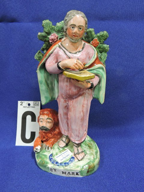 Staffordshire Pearlware lot of 5 figures: St. Paul - 4