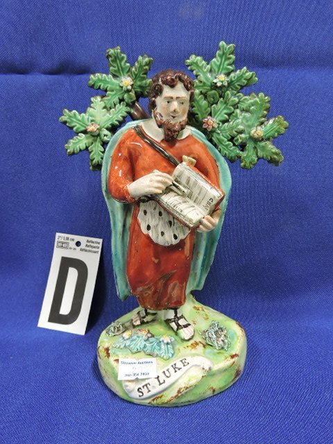 Staffordshire Pearlware lot of 5 figures: St. Paul - 5
