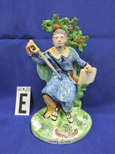 Staffordshire Pearlware lot of 5 figures: St. Paul - 6