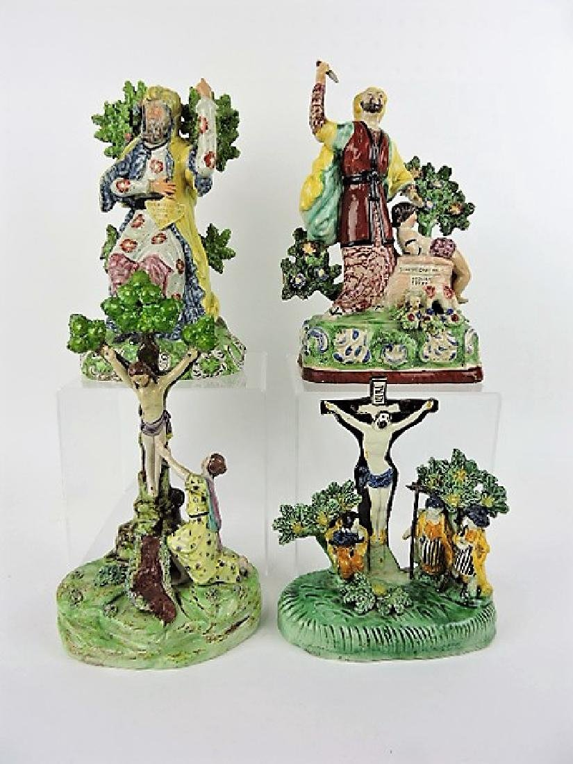 Staffordshire Pearlware lot of 4 figures: