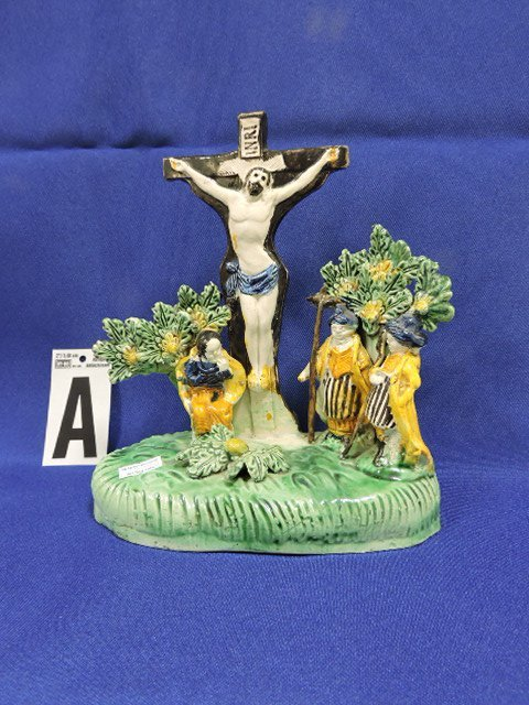 Staffordshire Pearlware lot of 4 figures: - 6