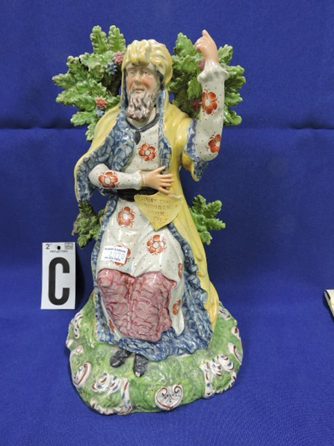 Staffordshire Pearlware lot of 4 figures: - 8