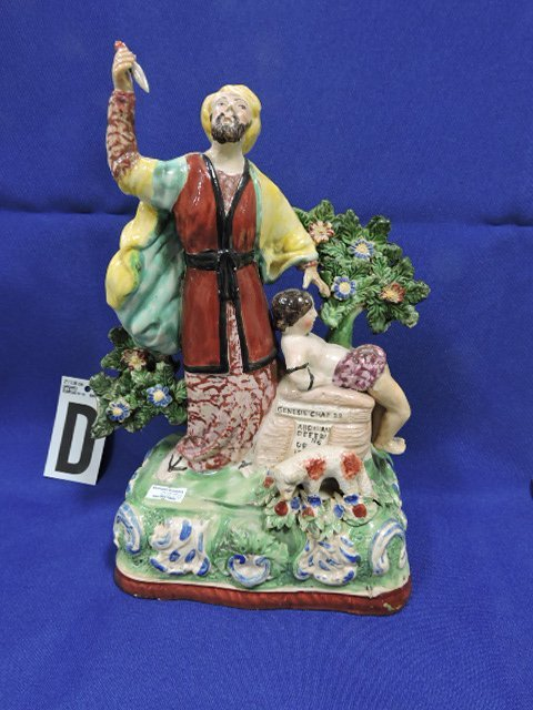 Staffordshire Pearlware lot of 4 figures: - 9