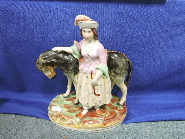 Staffordshire pair of figures of man and women, - 3