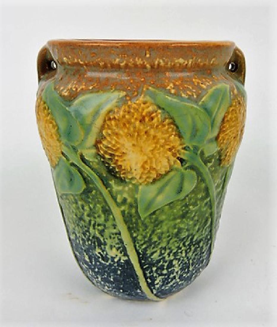 """Roseville Sunflower art pottery vase 488-6"""""""