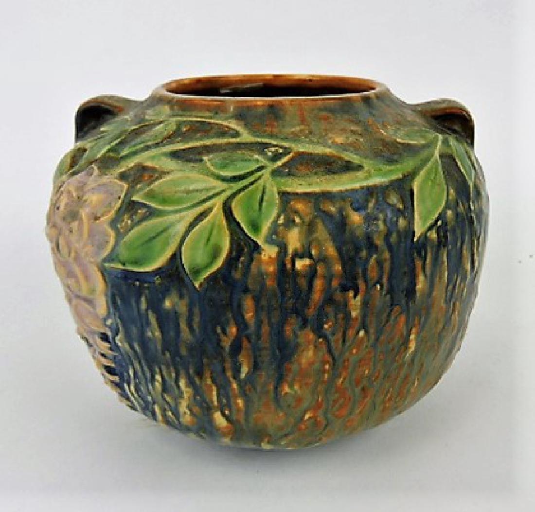 """Roseville Wisteria blue art pottery vase, 632-5"""""""
