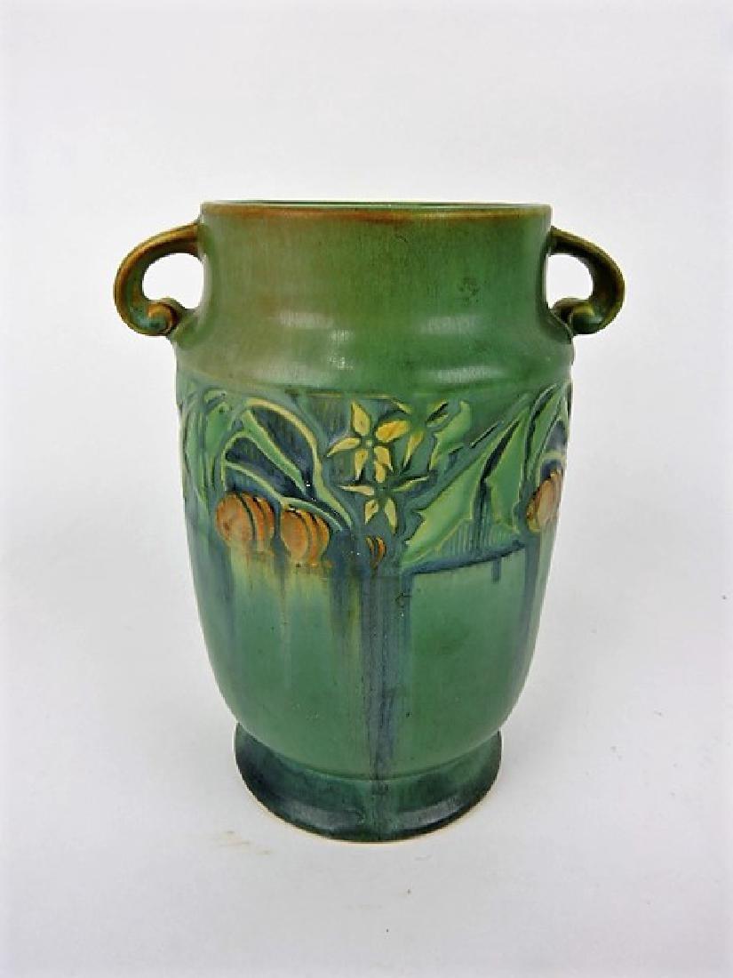 """Roseville Baneda green art pottery vase, 592-7"""""""