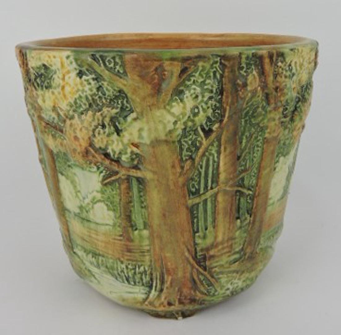 Weller Forest art pottery jardiniere, 7 3/4""