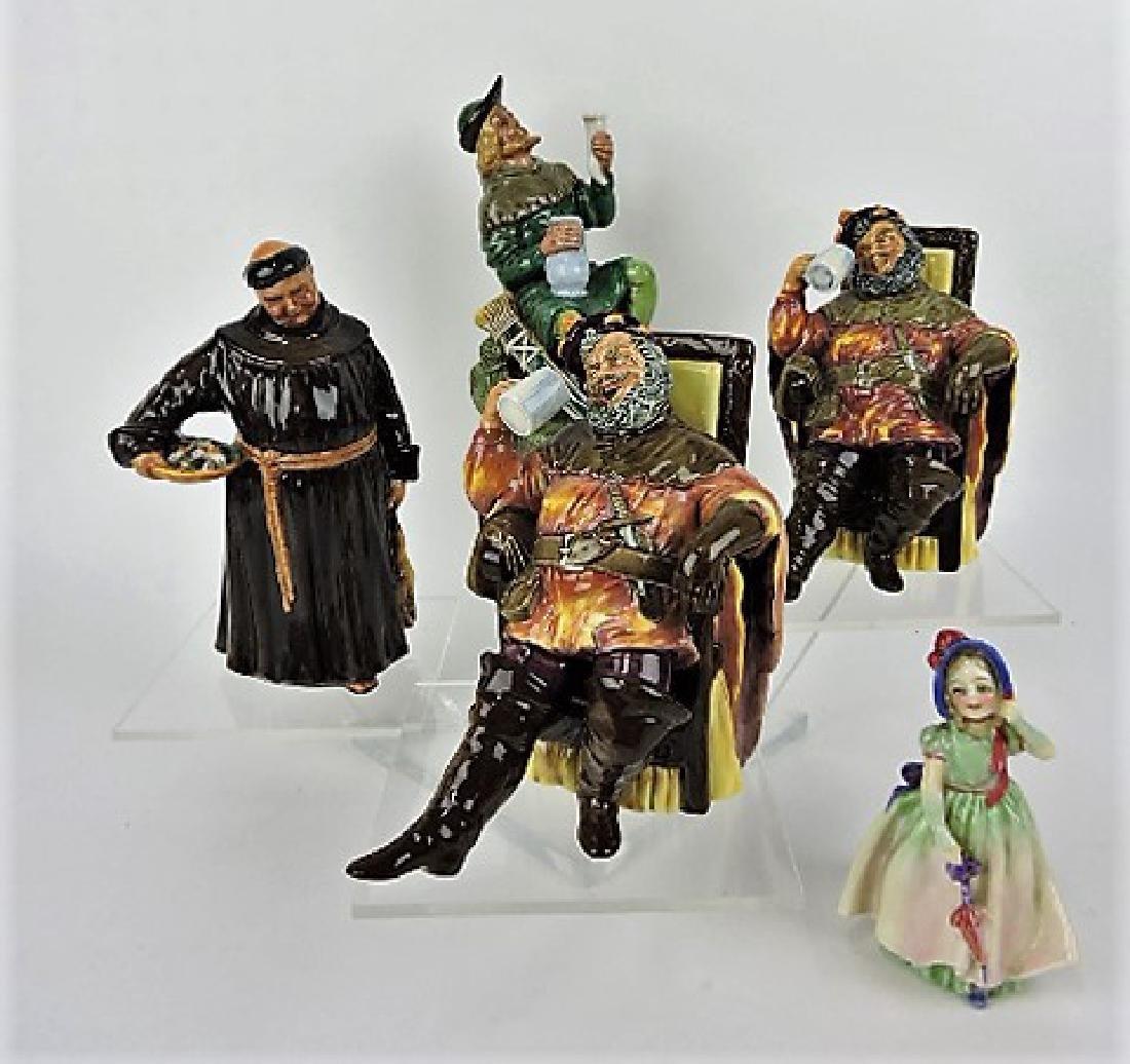 Royal Doulton lot of 5 figures: Robin Hood,