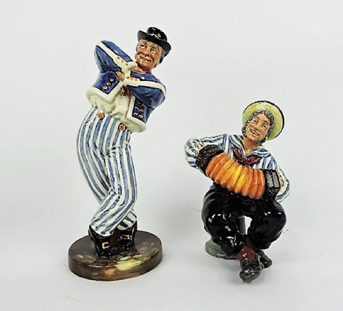 Royal Doulton lot of 2 figures: The Hornpipe HN