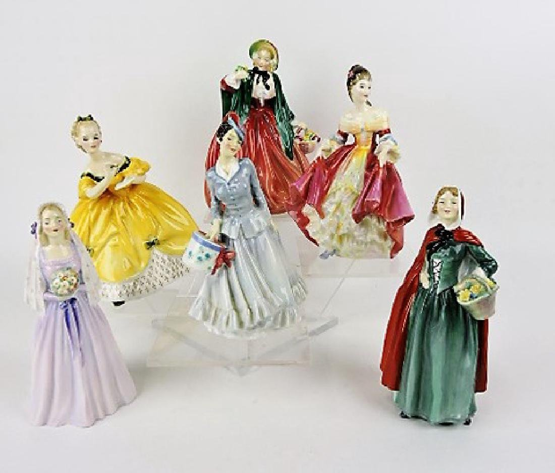 Royal Doulton lot of 6 lady figures: Lady Charmian