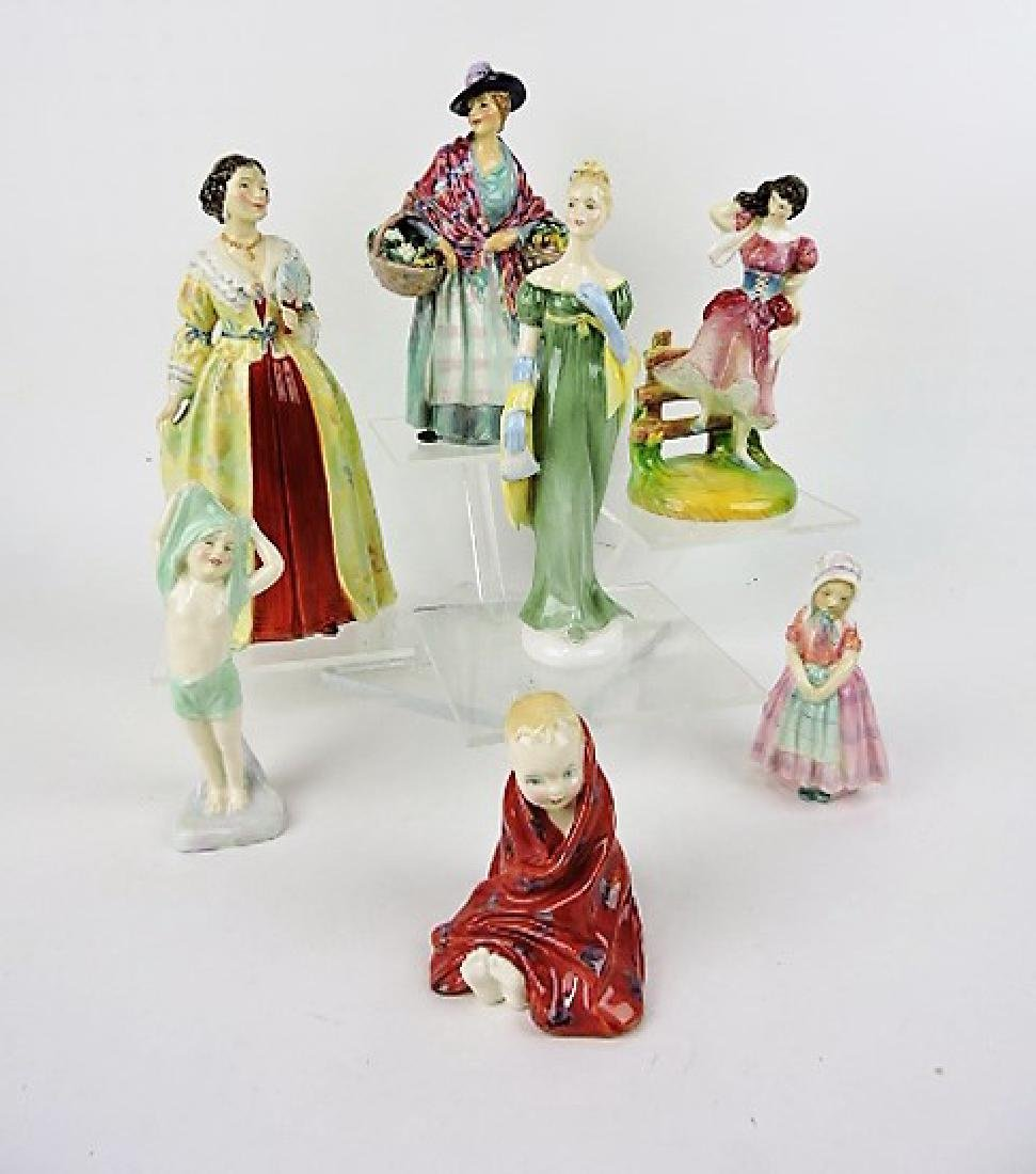 Royal Doulton lot of 7 figures: Romany Sue HN1757