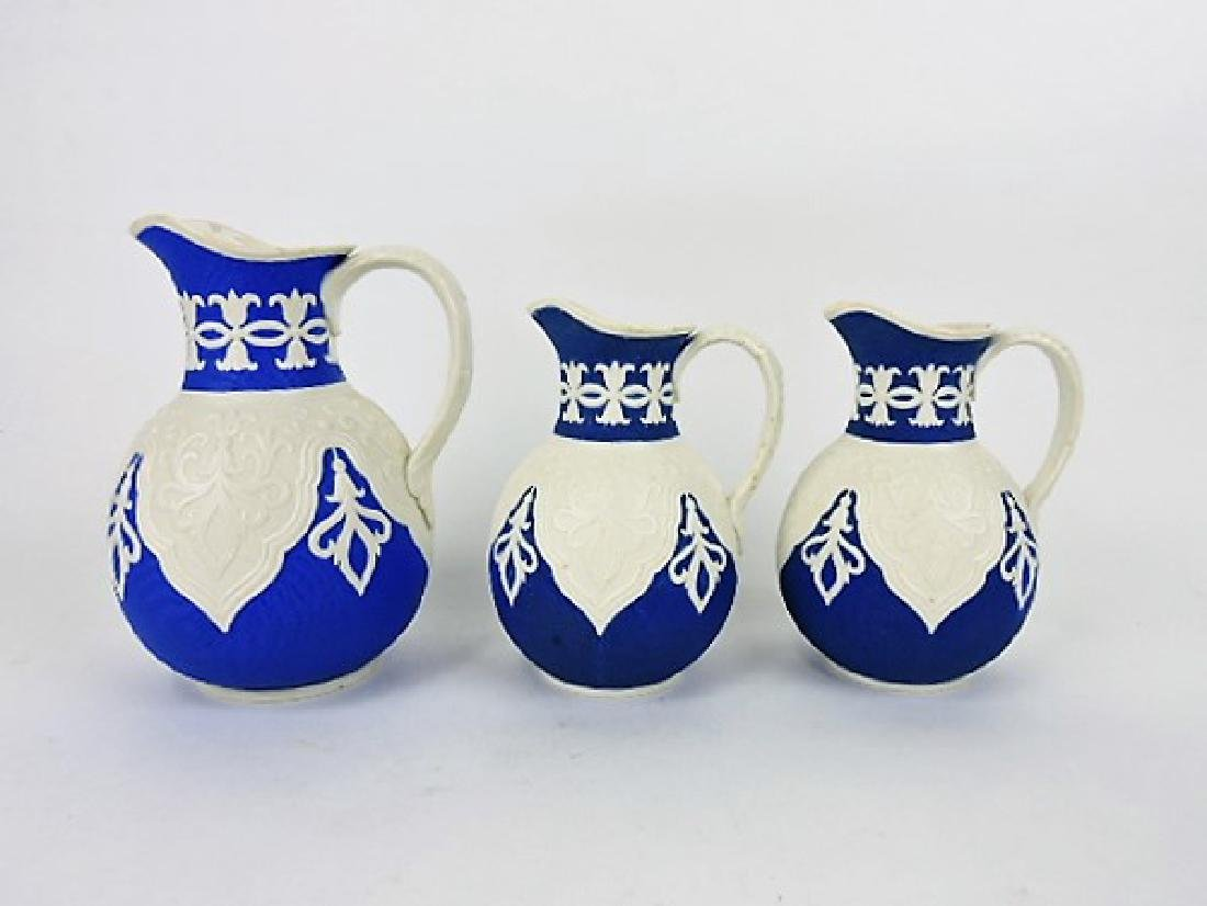 Brownfield lot of 3 parian on blue reverse