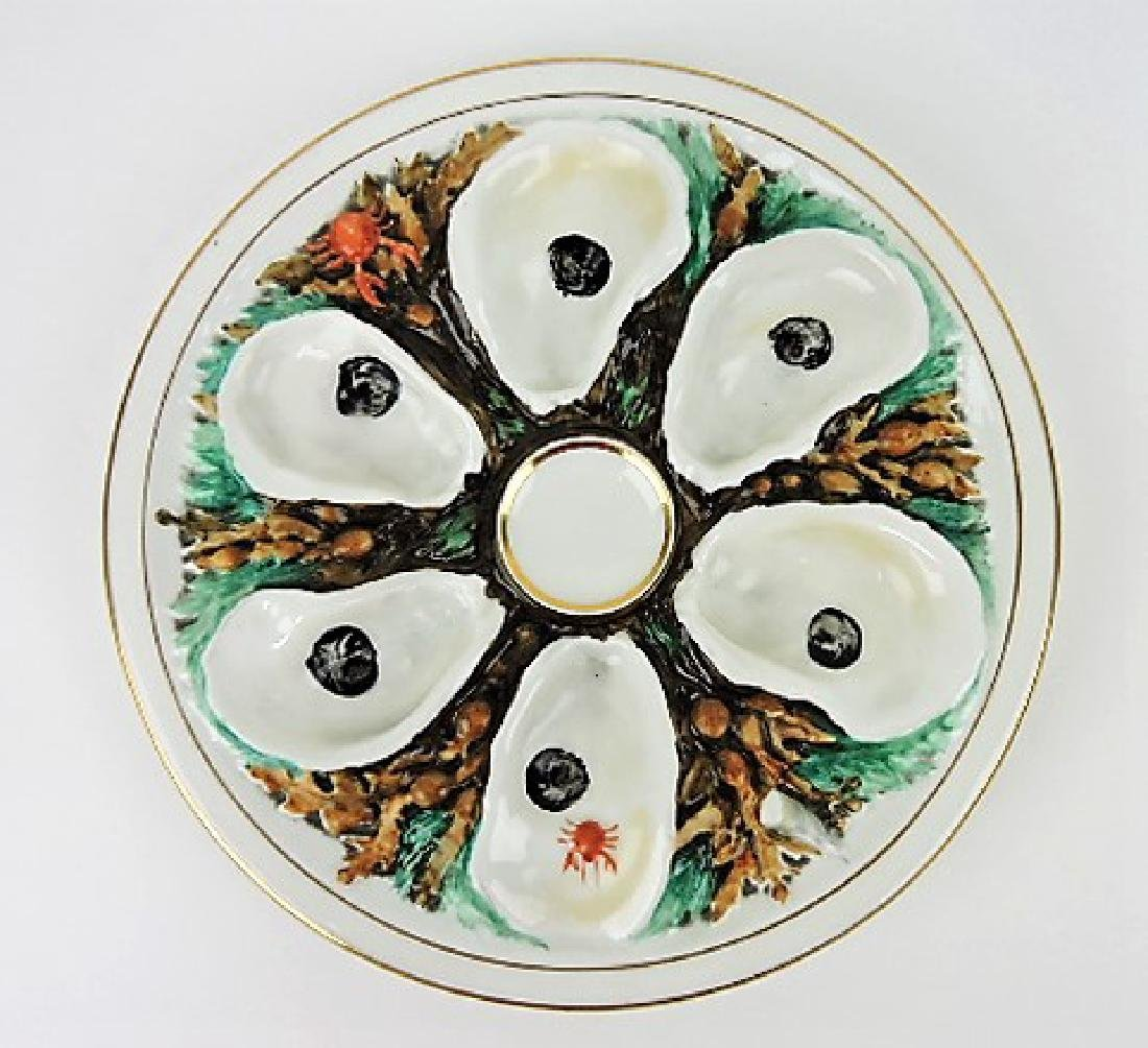 """UPW round porcelain oyster plate 9 1/2"""""""