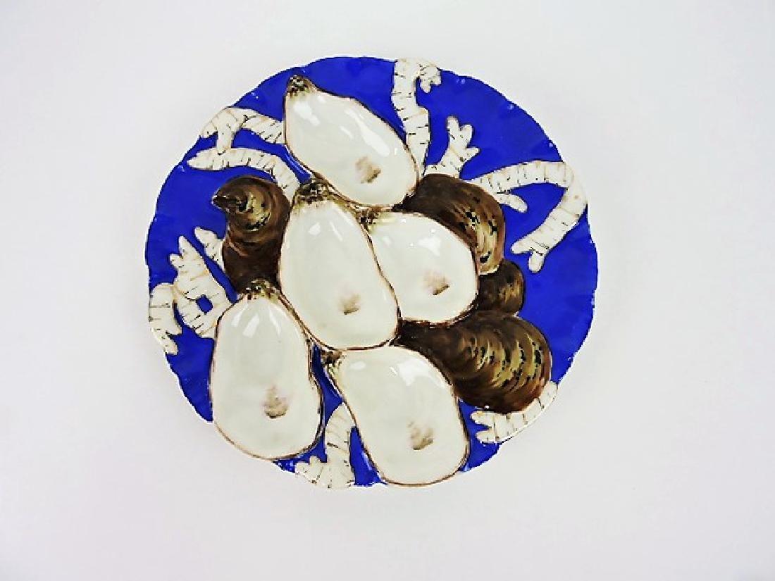 Haviland & Co turkey style porcelain oyster plate,