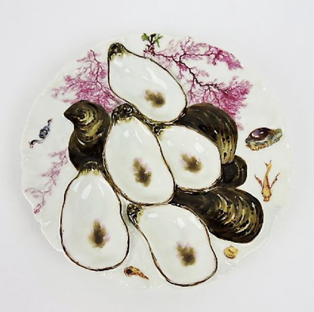 Haviland & Co turkey style oyster plate, white