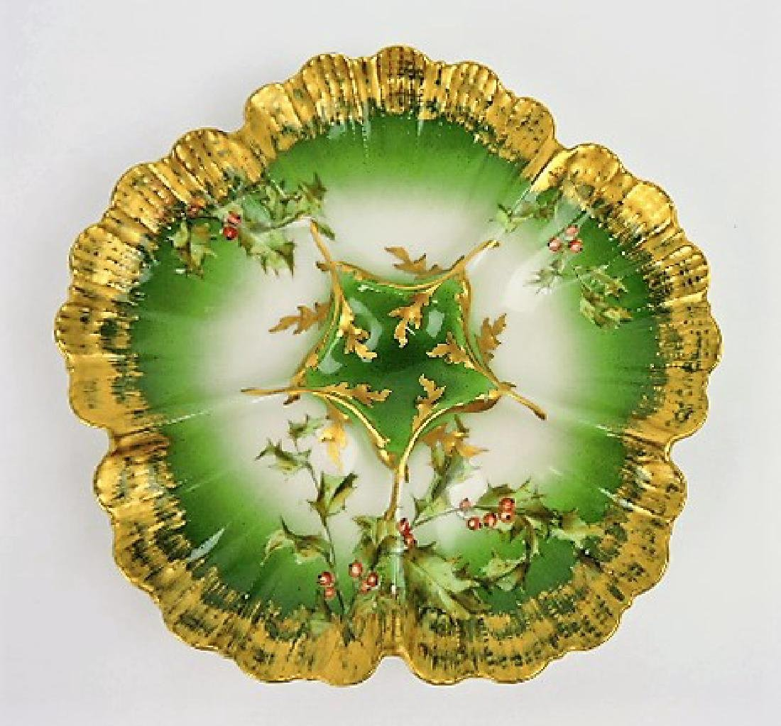 T.V. France porcelain 5 well oyster plate with