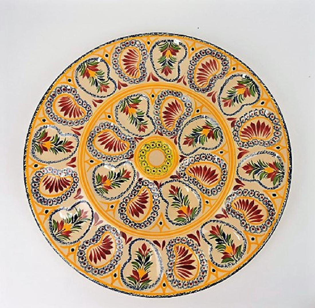 """Quimper 16 1/2"""" oyster tray"""