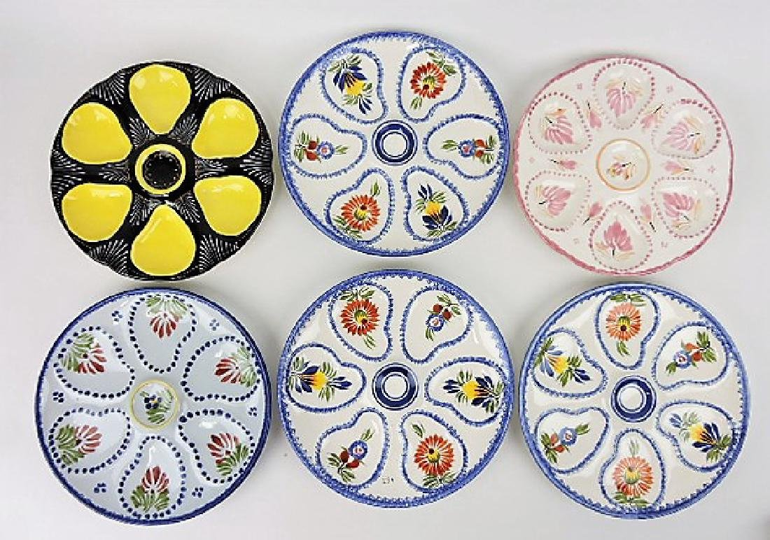 Quimper lot of 6 oyster plates