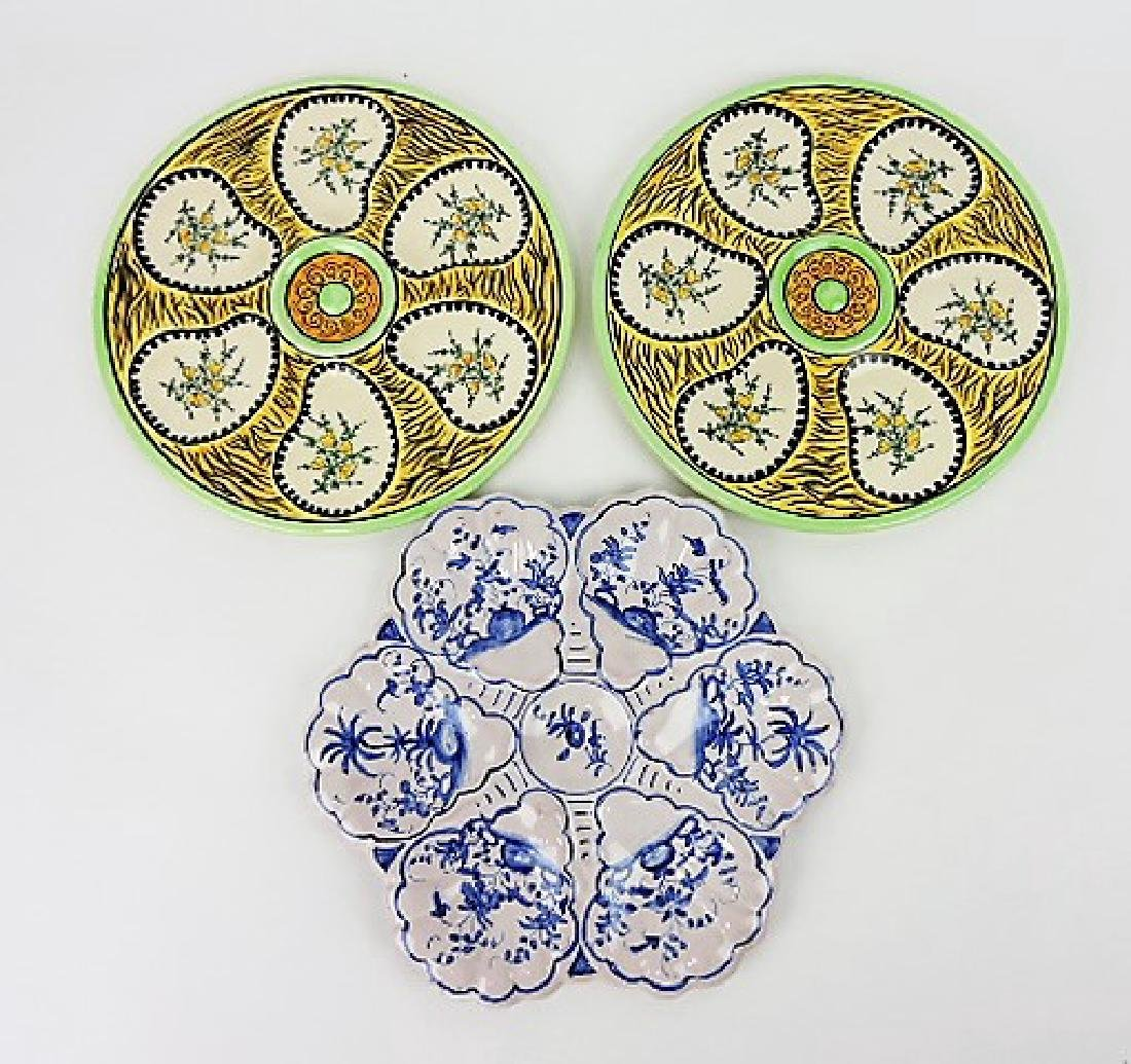 Quimper lot of 2 oyster plates